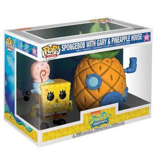 Figurine Funko Pop 02 Spongebob With Gary & Pineapple House (Bob L'Éponge)