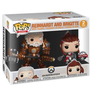 Figurines Funko Pop 2 Pack Reinhardt and Brigitte (Overwatch)