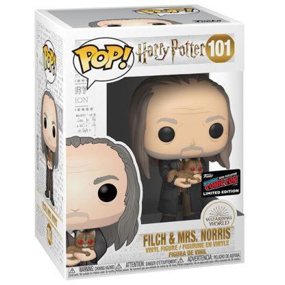 Figurine Funko Pop 101 Filch & Mrs. Norris (Harry Potter)