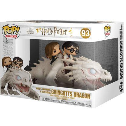 Figurine Funko Pop 93 Harry, Hermione & Ron Riding Gringotts Dragon (Harry Potter)