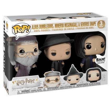 Figurines Funko Pop Albus Dumbledore, MinervaMcGonagall & Severus Snape (Harry Potter)