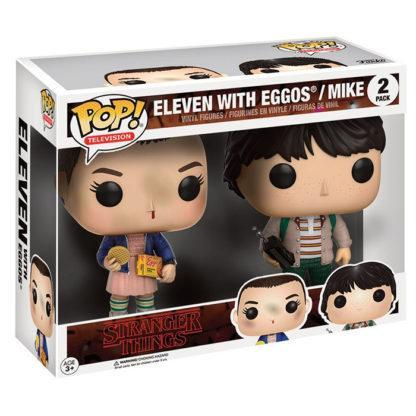 Figurines Funko Pop Eleven with Eggos & Mike (Stranger Things)